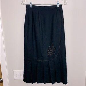 Vintage Stuart 100% wool midi skirt